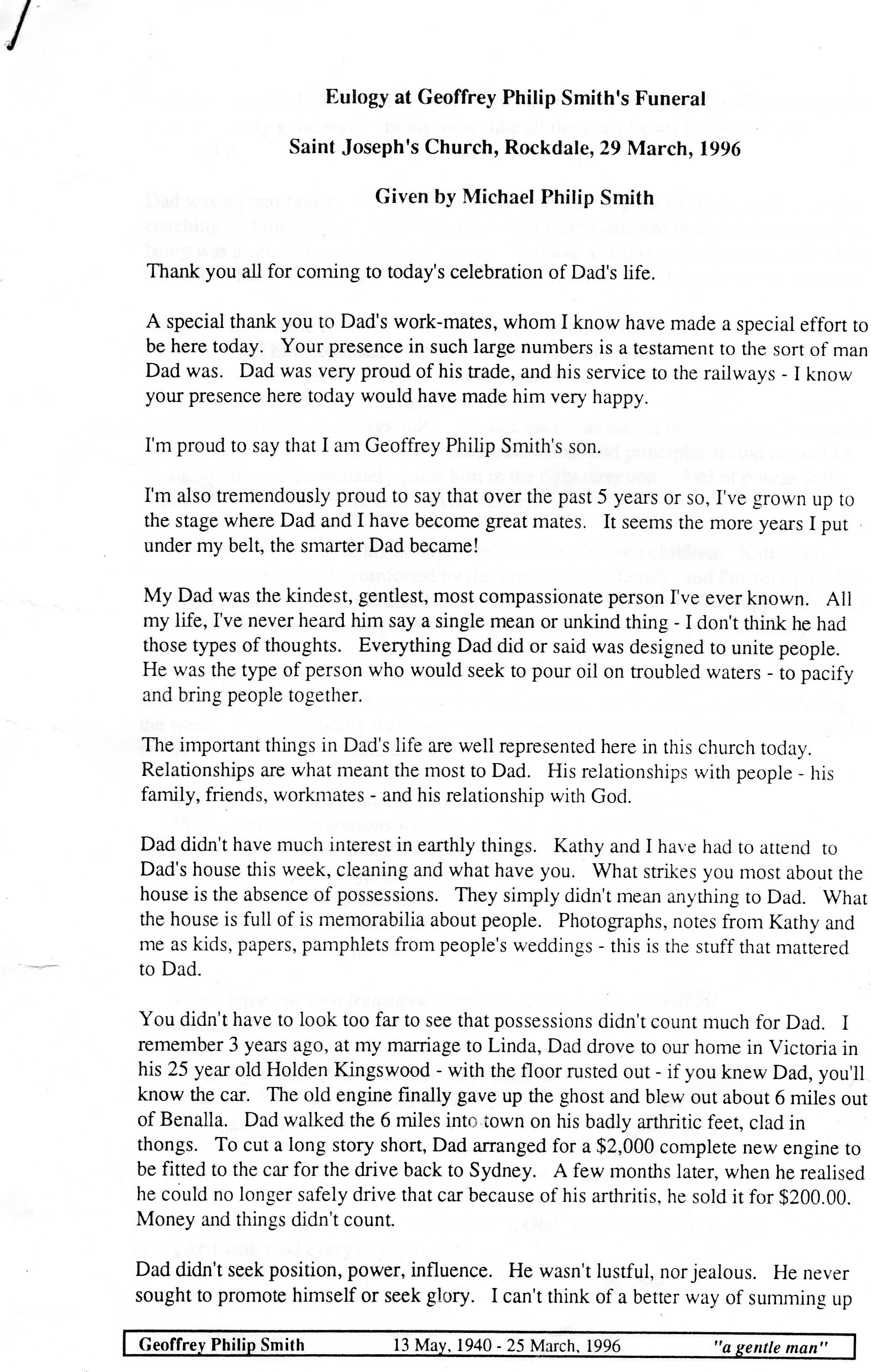 Eulogy for father in law examples free sample eulogies for Eulogy template for father