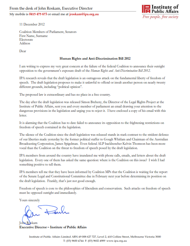 IPA letter to coalition MPs_001
