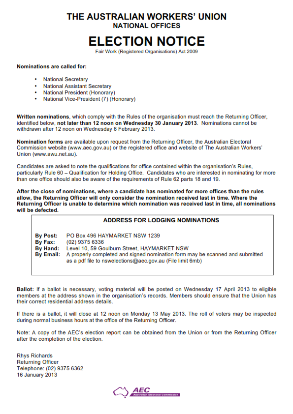 AWU election notices_001