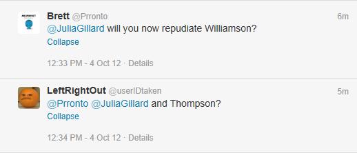 Gillard thomson williamson twitter