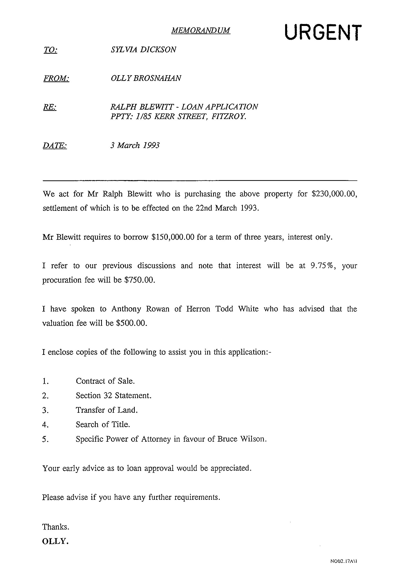 Turnbull handed over nearly half a billion borrowed dollars to the a memo from sylvia to olive brosnan about the application for the loan for ralph blewitt and the kerr street property altavistaventures Image collections