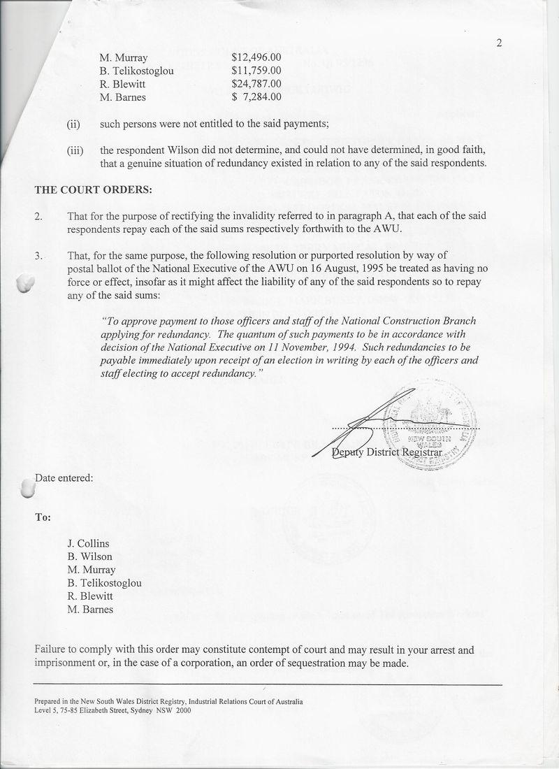 AIRC order 4June 1996 MADGWICK re redundancy2