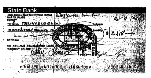 Redundancy cheque telikostoglou