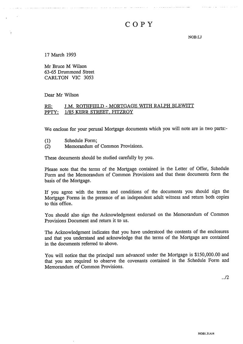 Mortgage approval letter 1