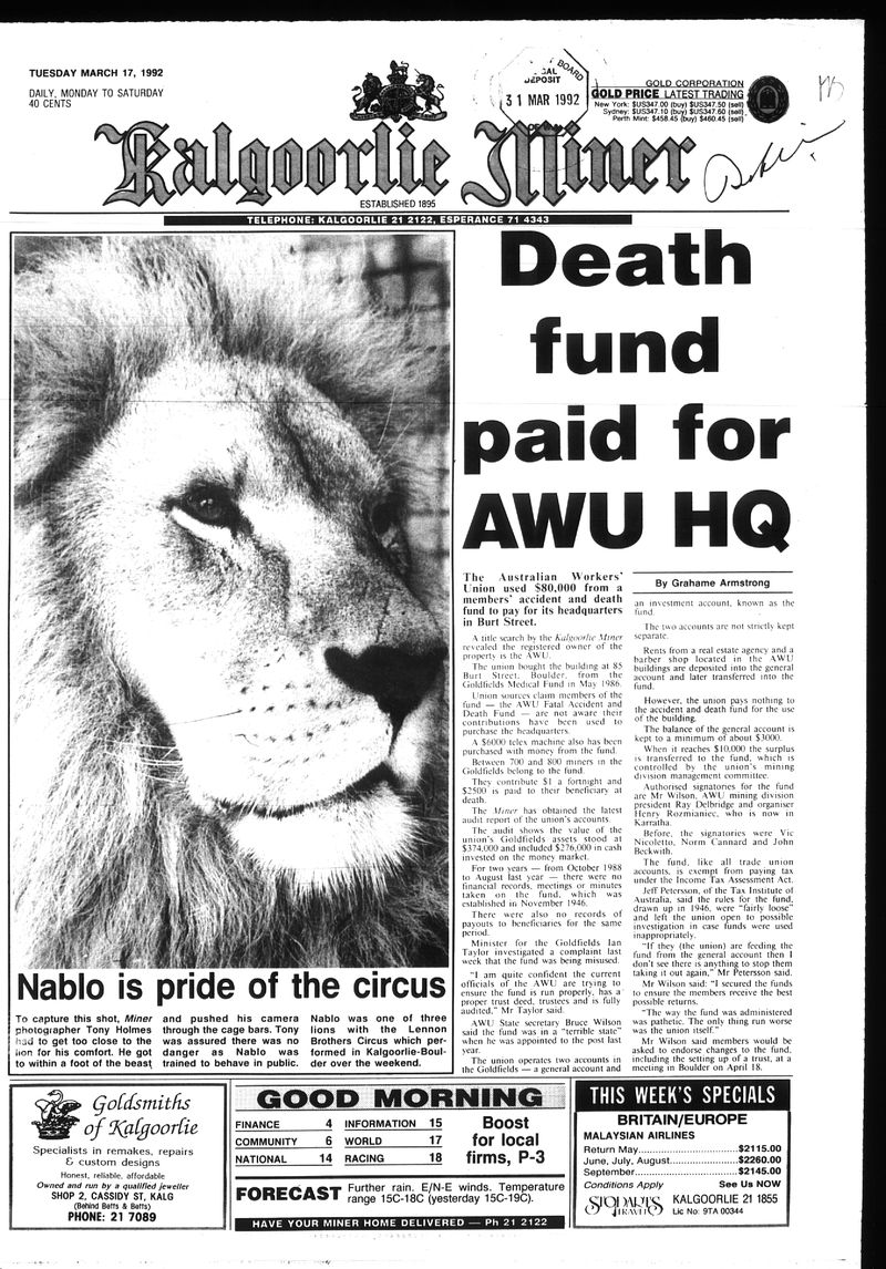 1992 mar 17 wilson boulder fund
