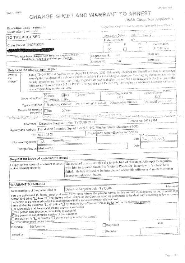 Craig Thomson Charge Sheet and Arrest Warrant_001