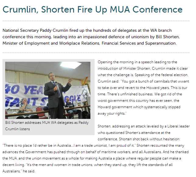Shorten at maritime conference