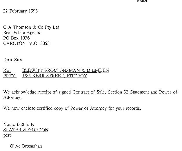 Letter 22 feb to ga thomson pow