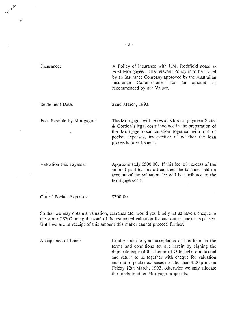 Offer of mortgage letter 2