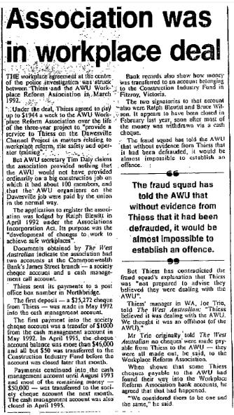 Joe Trio West Australian 1997 cut ot