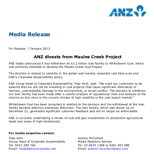 ANZ_divests_coal_hoax