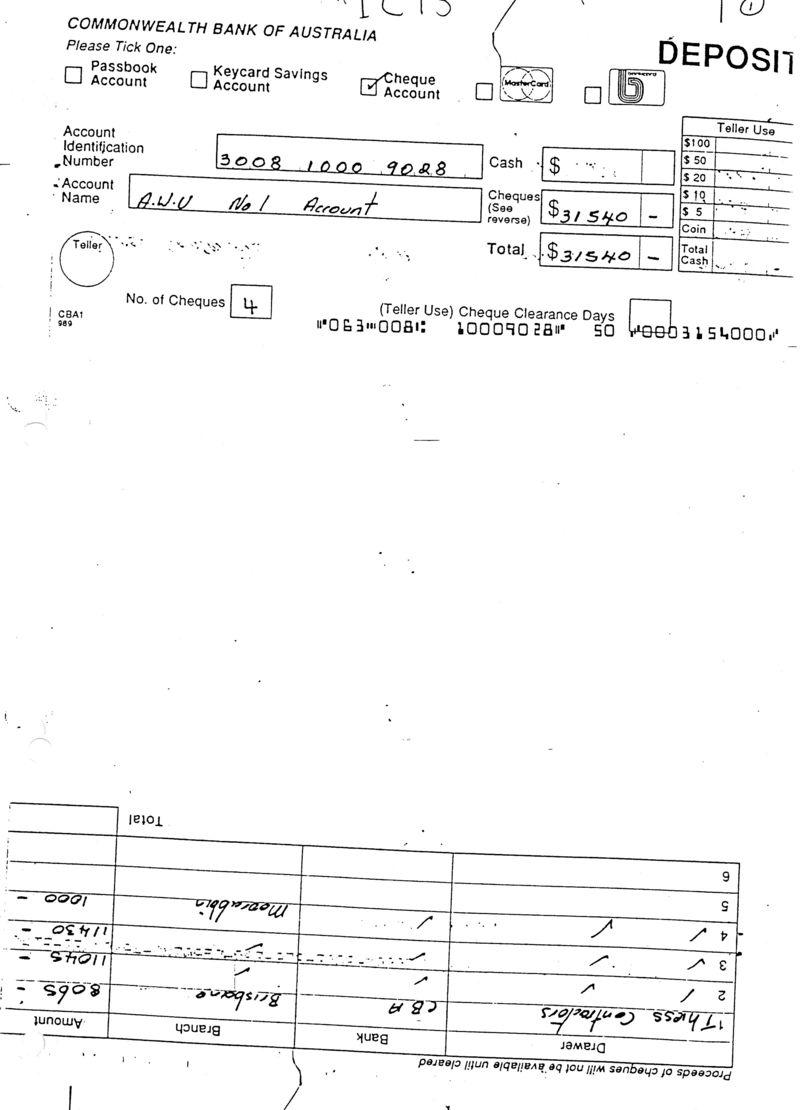 23 dec 1994 welfare deposit