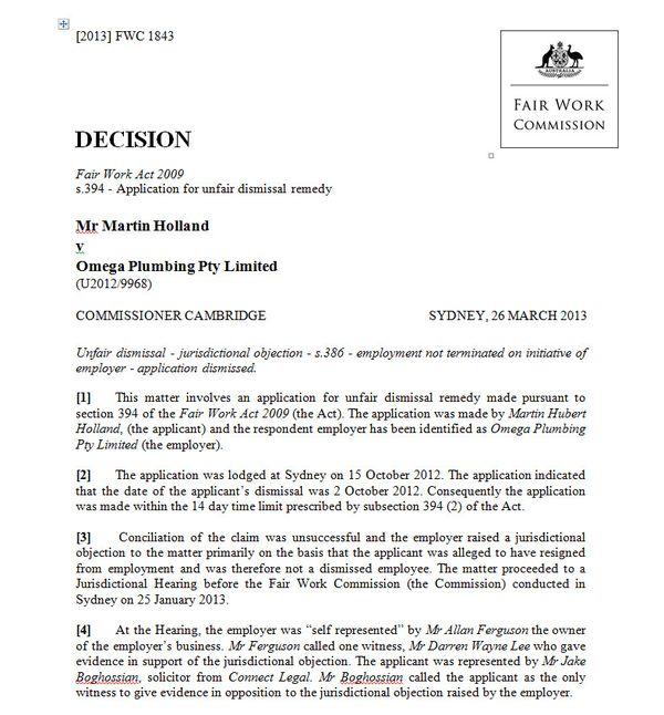 are judges eroding unfair dismissal by