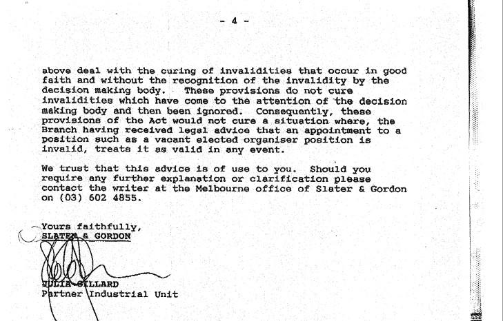 Gillard advice 4