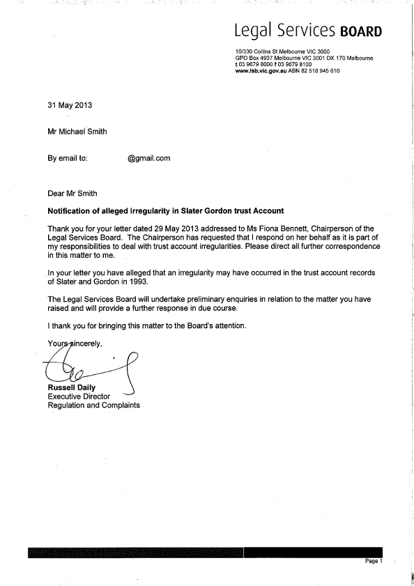 Sample Legal Complaint Letter