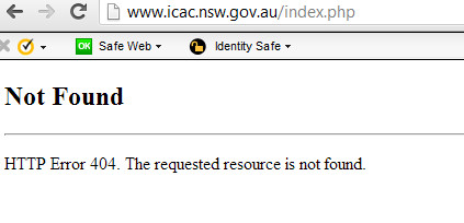 Icac site crashed