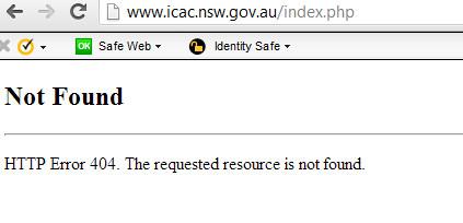 Icac site crashed
