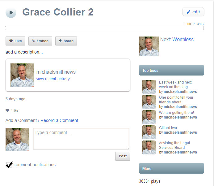 Grace collier audio