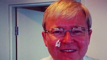 Rudd shaving