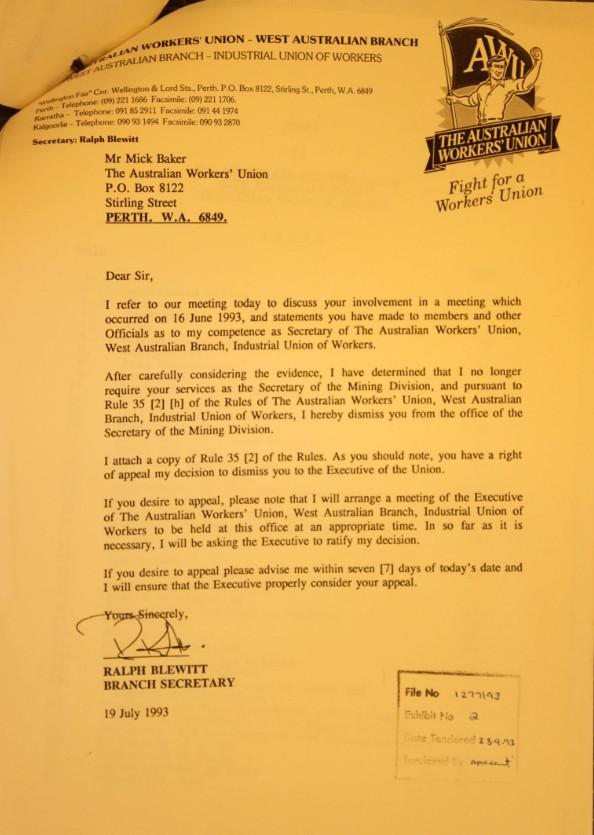 Baker letter