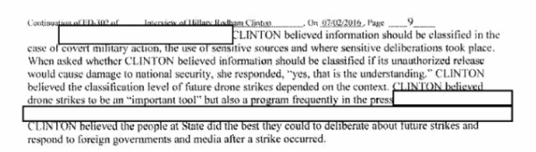 Qn for police on this FBI report into Hillary Clinton