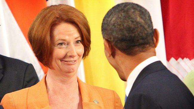 Gillard and obama