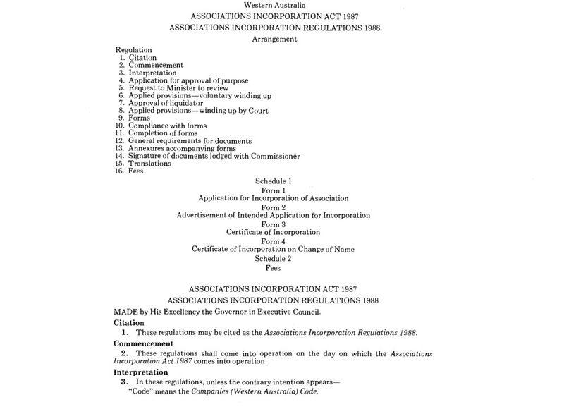 Assn regulations