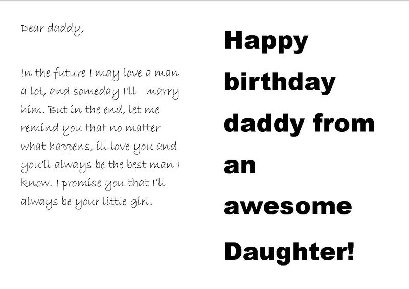 Birthday Cards For Dads From Daughters Gallery Free Birthday Card