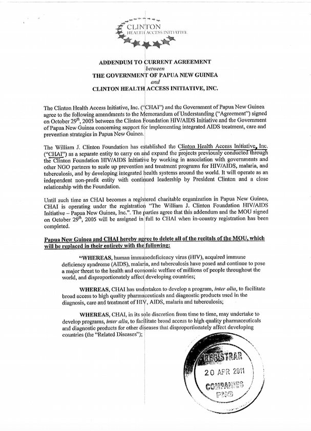 The Illegal Incorporation Of The Clinton Hivaids Initiative In