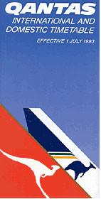 Qantas timetable