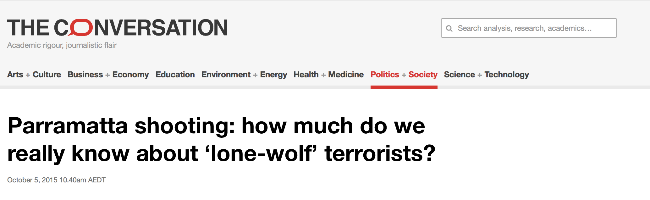 Farhad Jabar was not a lone wolf murderer - academic with