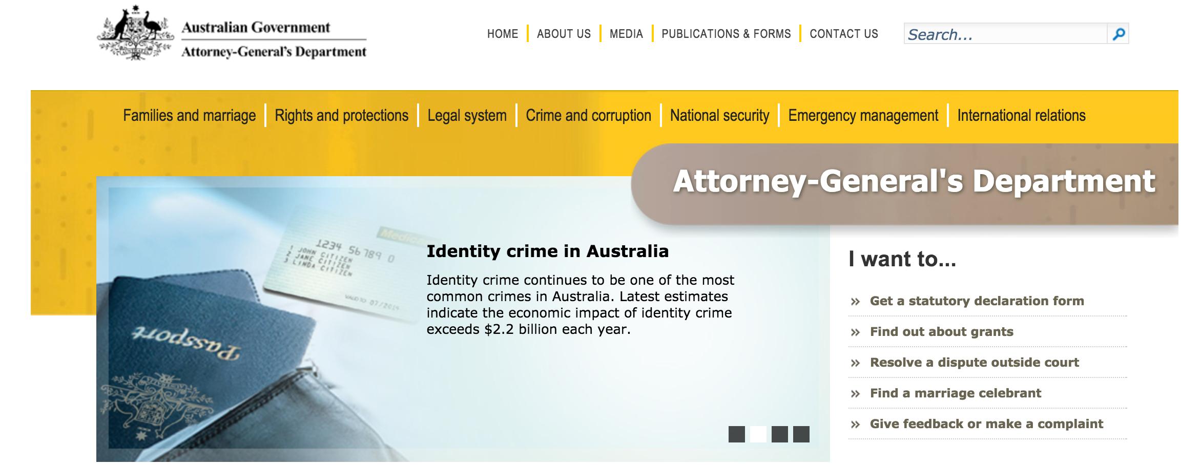 George Brandis QC identity theft - legislation & warrants signed may