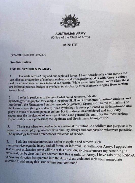 Chief of Army bans
