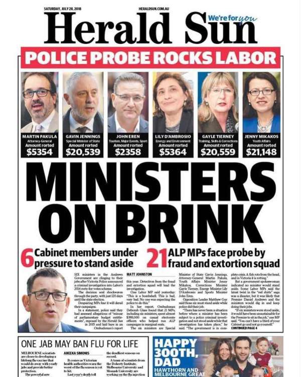 Newspaper Herald Sun (Australia). Newspapers in Australia