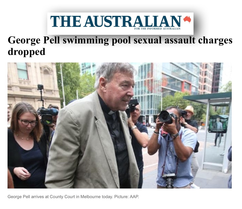 Pell charges dropped today as prosecutor's case collapses