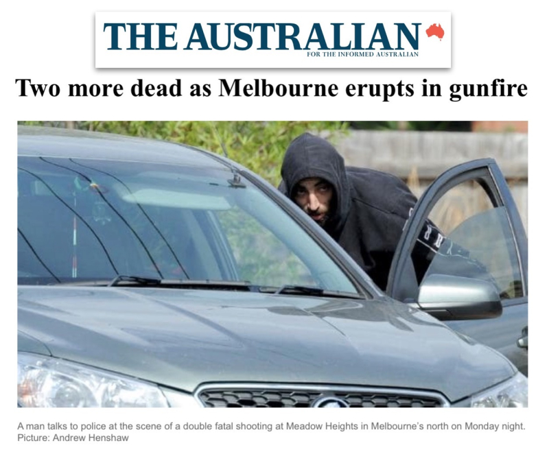 The Latest Police Say Shoppers Drew Guns After Shooting: Melbourne Gangland Shooting Spree