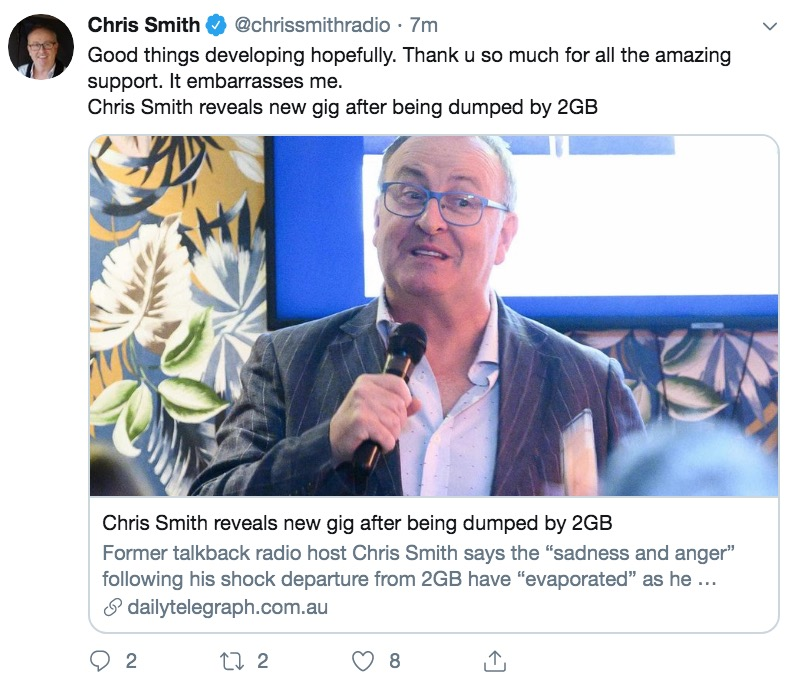 Chris Smith to host Sky's Bolt Report for the next two weeks