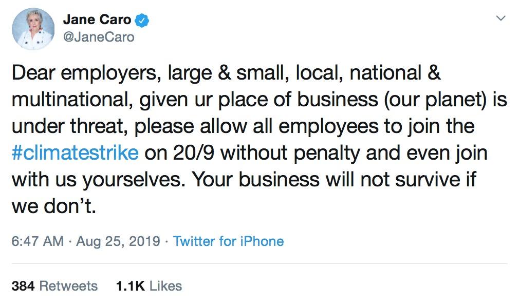 Jane Caro wants all Australian employees to go on strike