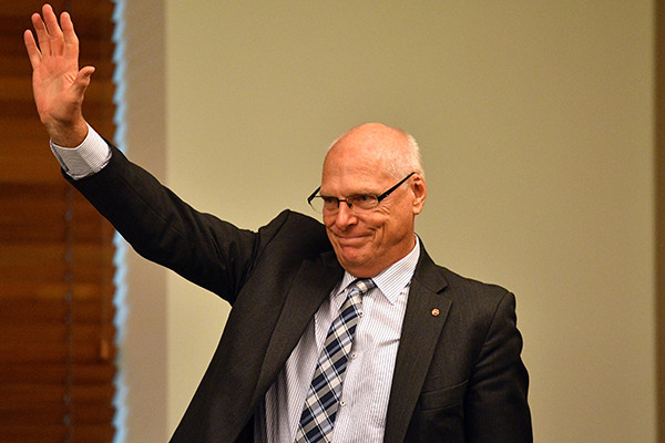 Senator (unelect) Jim Molan publicly concedes defeat in the