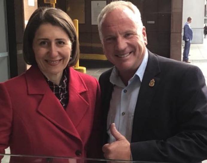 Caught up with NSW Premier Gladys Berejiklian yesterday
