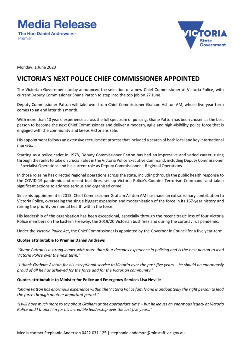 200601-Victoria's-Next-Police-Chief-Commissioner-Appointed