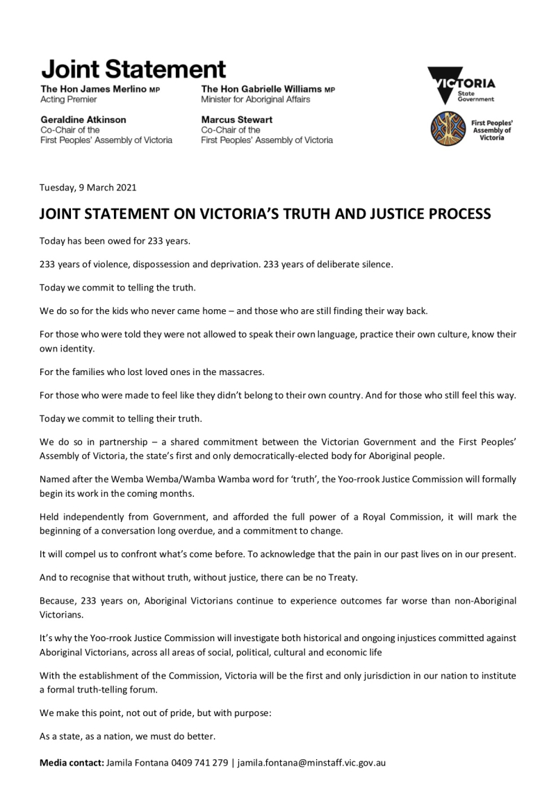 210309 - Joint Statement On Victoria%u2019s Truth And Justice Process_0