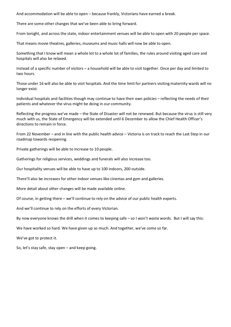 201108 - Statement From The Premier