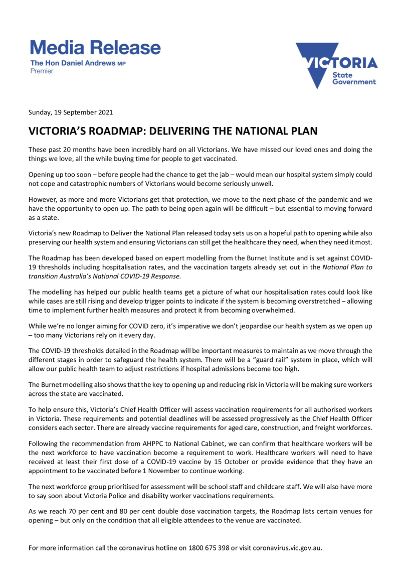 210919 - Victoria's Roadmap-Delivering The National Plan